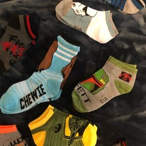 12 Pairs of Kids' Assorted Star Wars Socks